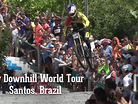 Stair Smashing Action - City Downhill World Tour, Santos, Brazil