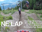 ONE LAP - George Brannigan, Brook MacDonald & Wyn Masters, Schladming, Austria