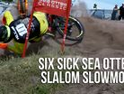 Six Sick Sea Otter Slalom Slowmos